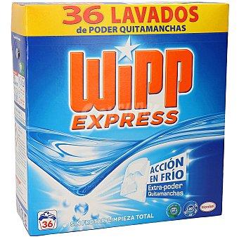 Wipp Express Detergente máquina polvo Maleta 36 cacitos