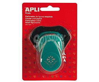 APLI Perforadora de esquinas con forma de flor, de color turquesa y de 25.4 milímetros 1 unidad