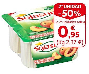 Sojasun Especialidad fresca de soja con trozos de melocotón Pack 4 unidades 100 g
