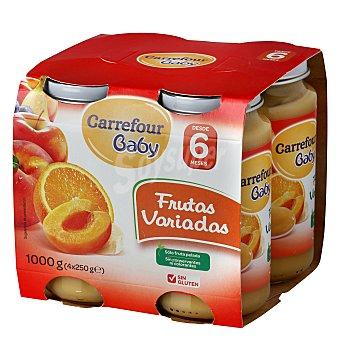Carrefour Baby Tarrito de frutas variadas Pack 4x250 g