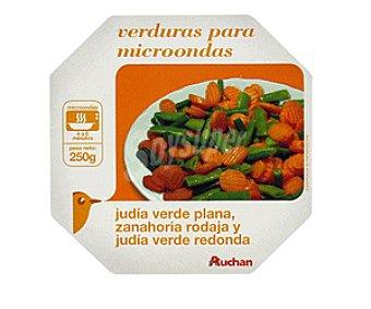 Auchan Bol Verduras al Vapor: Judías Verdes, Zanahoria y Judías Redondas 250g
