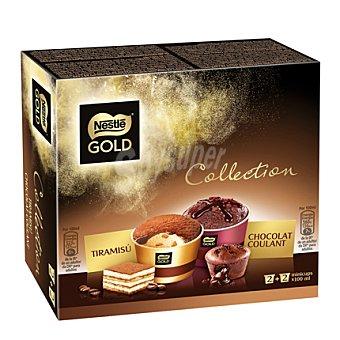 Gold Nestlé Helado minicups tiramisú y chocolate coulant Nestlé 4 ud