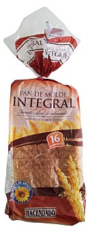 Hacendado Pan molde integral  Paquete 460 g ( 16 rebanadas )