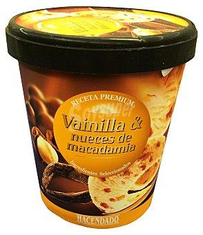 Hacendado Helado bote vainilla nueces macadamia receta premium Bote 500 cc