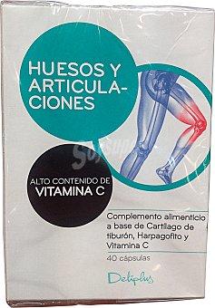 Deliplus Cápsulas complemento alimenticio huesos y articulaciones Paquete de 40 uds