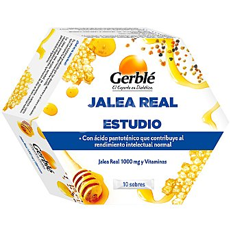 GERBLE jalea real Estudio 10 sobres envase 132 g 10 envase 132 g
