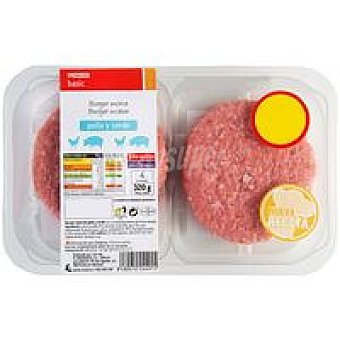 Eroski Basic Hamburguesa de pollo-cerdo 4 unid