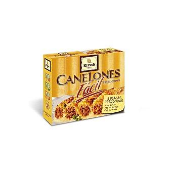 El Pavo Gallina Blanca Canelones precocidos 18 placas, caja 125 g