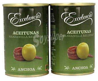 Excelencia Aceitunas rellenas anchoa 2 x 130 g