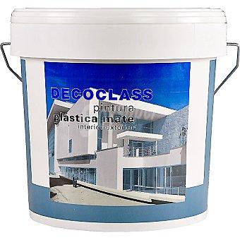 DECOCLASS Pintura plástica mate para interior y exterior en color blanco 4 l