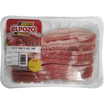 ElPozo Panceta de cerdo en filetes peso aproximado Bandeja 500 g