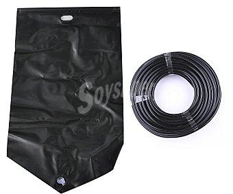 TRESDOGAR Kit de riego por goteo compuesto por deposito en forma de bolsa muy resistente con capacidad para 5 litros y 3 metros de tubo de riego 1 unidad