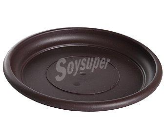 VAN Plato circular de plástico de color chocolate 1 Unidad