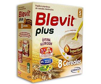 BLEVIT Plus Papilla de superfibra 8 cereales 0%, a partir de 5 meses 600 Gramos