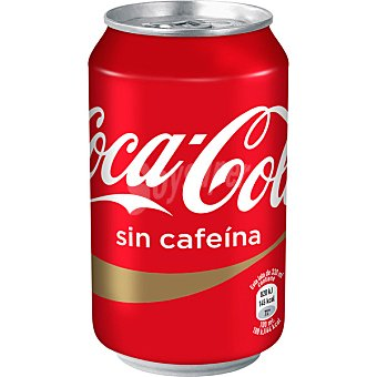 Coca-Cola Refresco cola sin cafeina Lata 33 cl