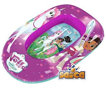 SAICA Nella Barca hinchable infantil color rosa, diseño Nella, Una princesa valiente, SAICA.