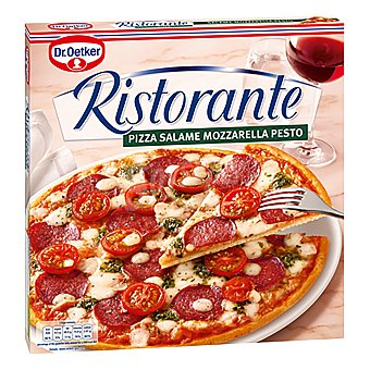 Ristorante Dr. Oetker Pizza con salami mozzarella y pesto  estuche 360 g
