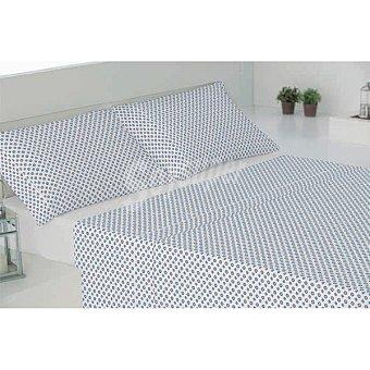 CASACTUAL Juego de cama con dibujo de topos en color azul Huelva 1 unidad