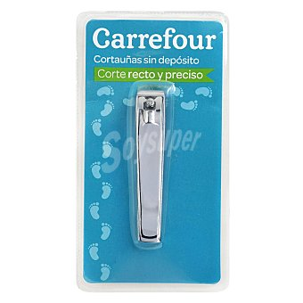 Carrefour Cortauñas metálico sin depósito 1 ud