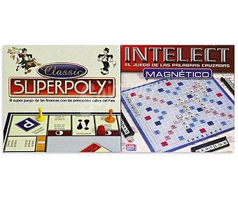 Falomir juegos Juegos de mesa Superpoly + Intelect magnético, de 2 a 4 jugadores juegos superpoly+intelect