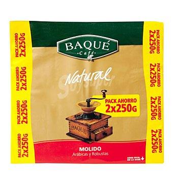 Baqué Café molido natural Pack 2x250 g