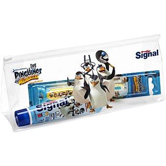 Signal Neceser Los Pingüinos de Madagascar con pasta de dientes + cepillo de dientes Estuche 1 unidad