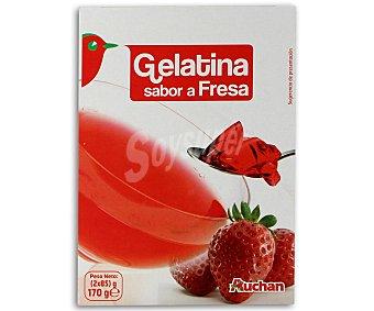 Auchan Gelatina sabor a fresa 170 gr