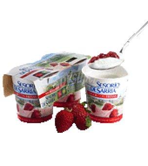 Señorio de Sarria Yogur con fresas Pack de 2x125 g