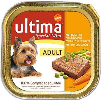 Ultima Affinity alimento equilibrado con pollo y legumbres para perros de raza mini adultos Special Mini Adult tarrina 150 g