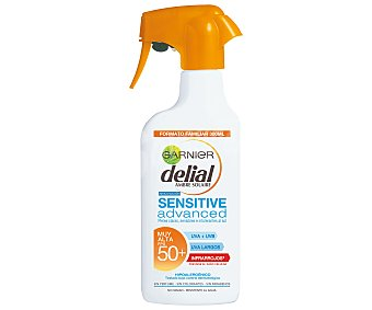 DELIAL Protector solar F50+ Sensitive advanced (pistola) Botella de 300 ml
