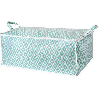 Compactor Daman funda para edredones 70x50x30 cm en color verde y blanco