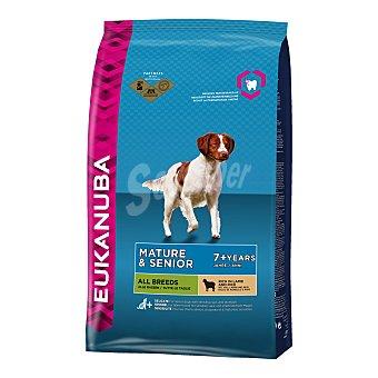 Eukanuba Pienso para perros adultos y senior + 7 cordero y arroz 12 Kg