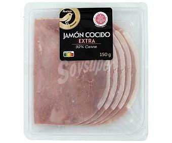 Alcampo Gourmet Jamón cocido de categoria extra, sabor ahumado y cortado en lonchas 150 g