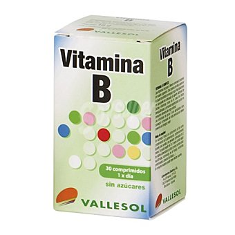 VALLESOL Vitamina B sin azúcares 30 cápsulas