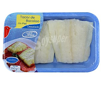 Auchan Tacos de bacalao desalado sin piel 350 gramos
