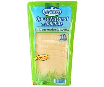 Central Lechera Asturiana Queso en lonchas Edam Light 200 Gramos