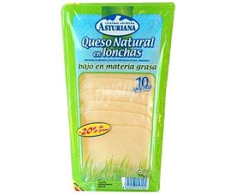 Central Lechera Asturiana Queso en lonchas Edam Light 200 Gramos
