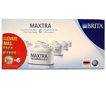 Brita Pack de 6 filtros purificantes Maxtra, 30 días/filtro (150 litros/filtro) 1 unidad