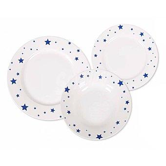 Home Style Vajillas de Porcelana Aster Azul 18 pzas 25x26cm - Decorado 1 ud