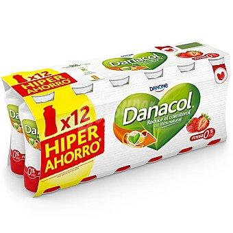 Danacol Danone Danacol para beber de fresa 12 unidades de 100 g