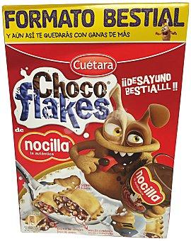 CUETARA Galleta rellena cereales Nocilla flakes Paquete de 450 g