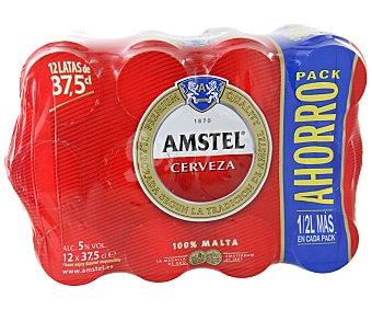 Amstel Cervezas Pack de 12 latas de 37,5 centilitros