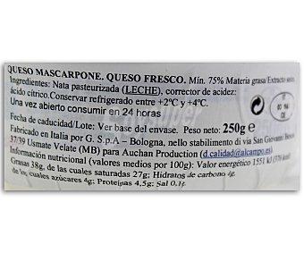 Auchan Queso mascarpone 250 gramos