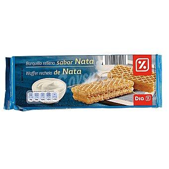 DIA Barquillo relleno sabor nata Paquete 160 gr