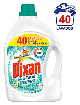 Dixan Detergente liquido frescor plus Garrafa 40 dosis