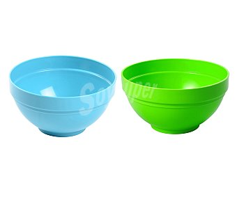 EDA Tazón multiusos de 14 centímetros y fabricado en plástico de color verde o azul 1 unidad