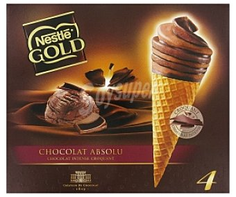Gold Nestlé Cono de Chocolate y Caramelo 4x110ml