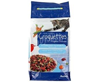 Auchan Comida Seca para Gato Multicroc de Salmón Bolsa 2 Kilos
