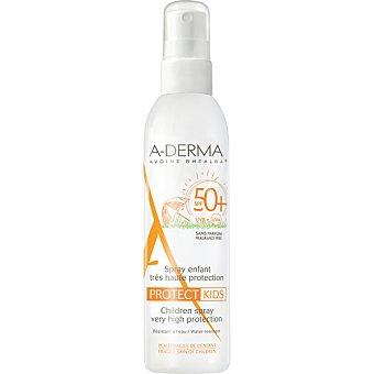A-derma protect kids protección solar facial y corporal SPF50+ para la piel frágil del niño  spray 200 ml