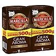 Café molido extrafuerte gran aroma pack 2x500 g Marcilla